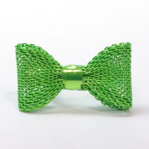 bowtie metal ring - green