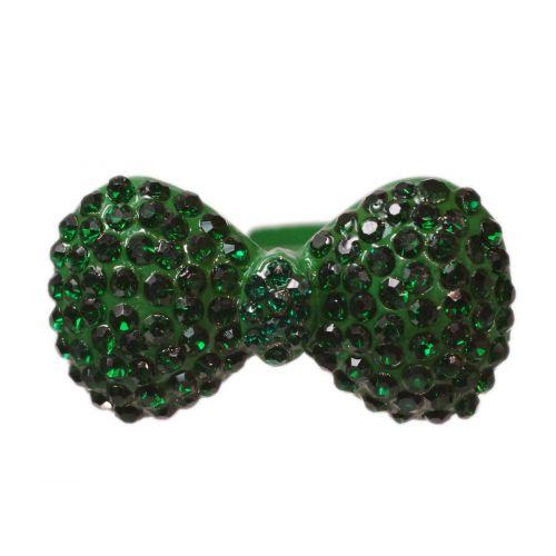 Anello di Metallo Cravatta a Farfalla XL BA18 Verde