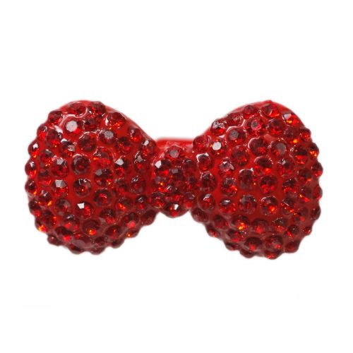 XL bowtie metal ring - Red