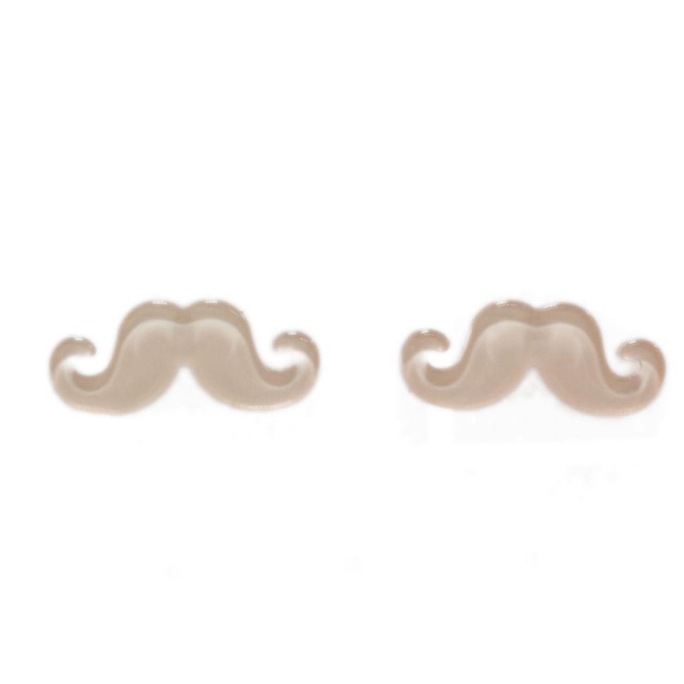 Boucles d'oreilles moustache en acrylique, 2094 saumon Saumon - 3470-12340