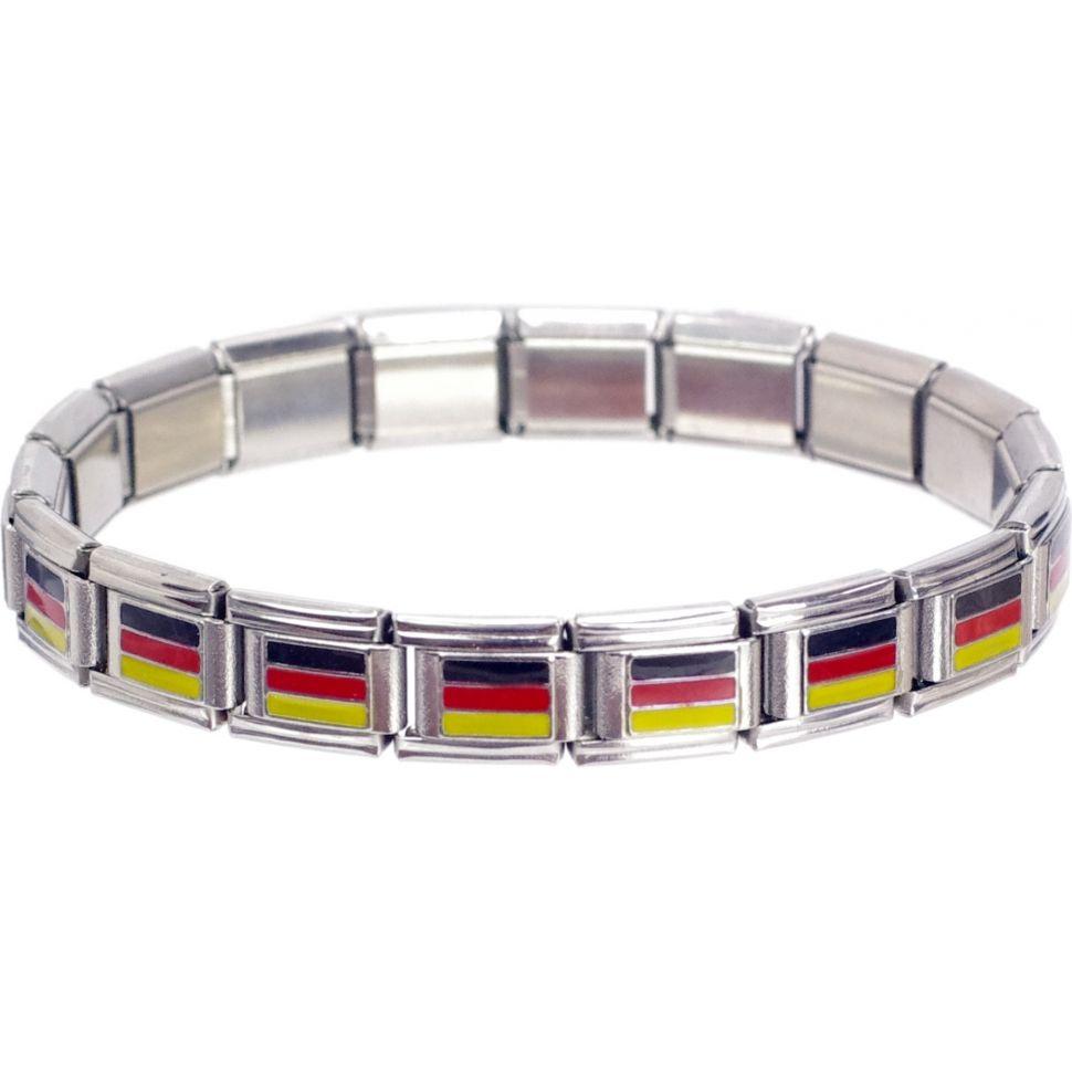 Bracelet personalibable (MOTIFS) Drapeau allemand - 3636-13179