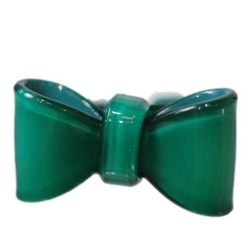 Bague acrylique Noeud Papillon AOS-4 Vert - 3835-14815