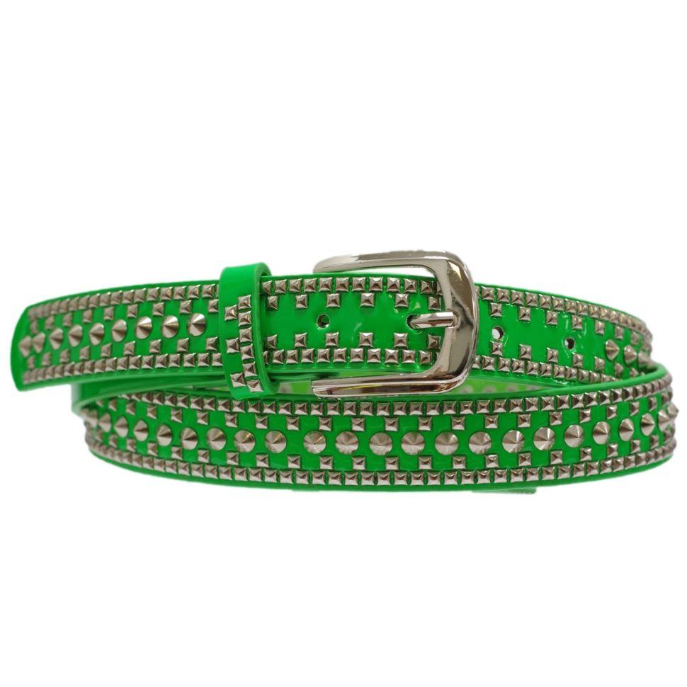 Studded 4 cm leatherette belt, 2053