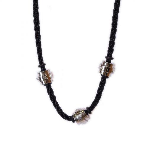 collier cordon, acier inoxydable 4412-3 ARGENT Argenté - 4630-17087