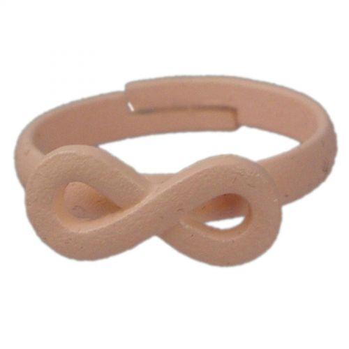 Bague métal symbole infini, 4774 Saumon