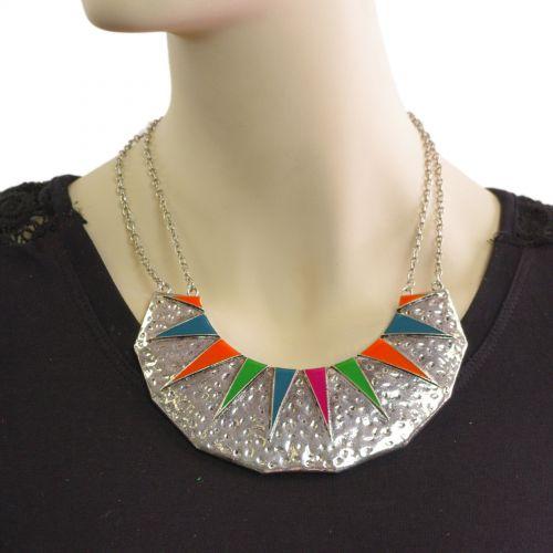 collier cordons avec chaines
