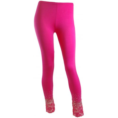 Leggings Dentelles et strass Fuchsia - 5340-18562