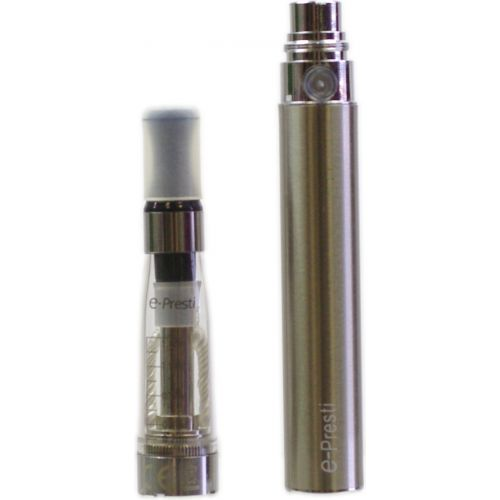 Cigarette électronique e-Presti 900 mAh avec chargeur USB Argent