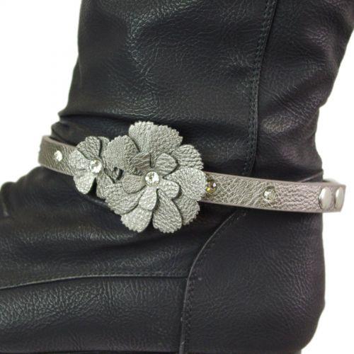 Paire de bijoux de bottes à strass pour fleurs LUANA