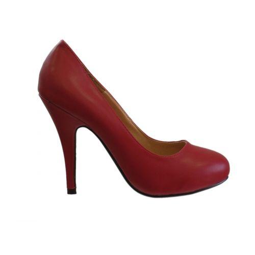 Escarpin à bout rond avec 10 cm de talon, 5952 rouge 37 - 5979-19777