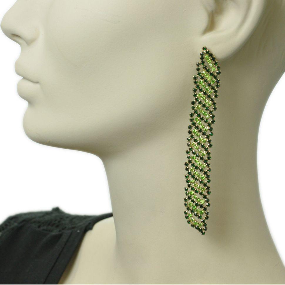 Boucles d'oreilles 6406 Vert