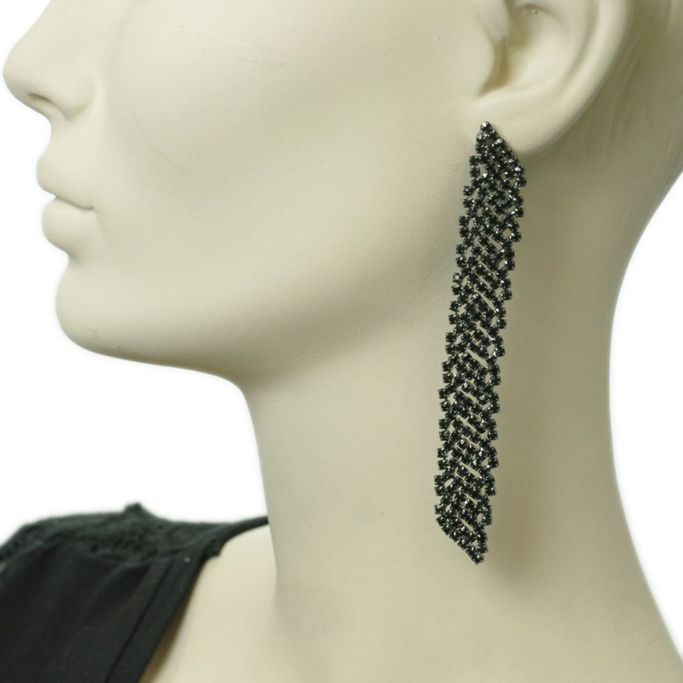 earrings 6406 Black