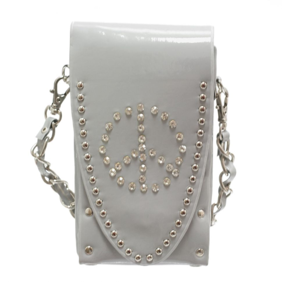 Sacs pour smartphone strass, Peace and Love, 6451 Gris