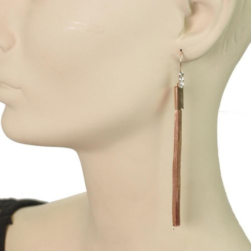 earrings 6412 Brown-Gold