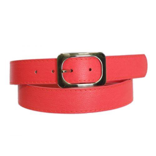Ceinture similicuir boucle rectangle 3.50 cm, 5356 Rouge feu 85 - 7614-22527