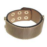 Bracelet similicuir mailles métal EURWEN