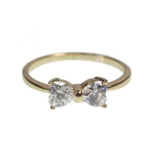 Zirconio anello cromato papillon 1 micron oro, 8520 Oro Bianco