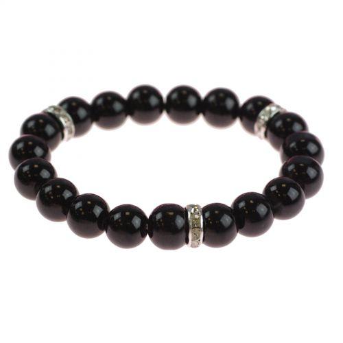 Bracelet extensible à perles de verre MARTA Noir - 9029-25700