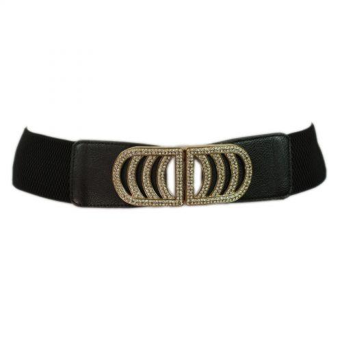 6 centimetri cintura elastica fibbia di strass ALEXANDRINE