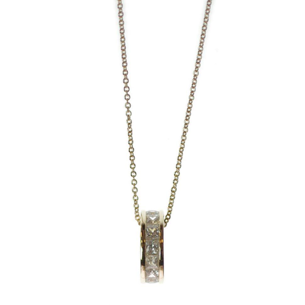 rhinestone ring necklace