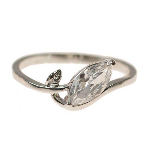 zirconium rhinestone Copper ring golden with gold, EZELINE