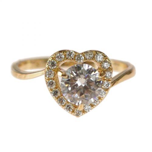 zirconium rhinestone Copper ring golden with gold, JUDIA