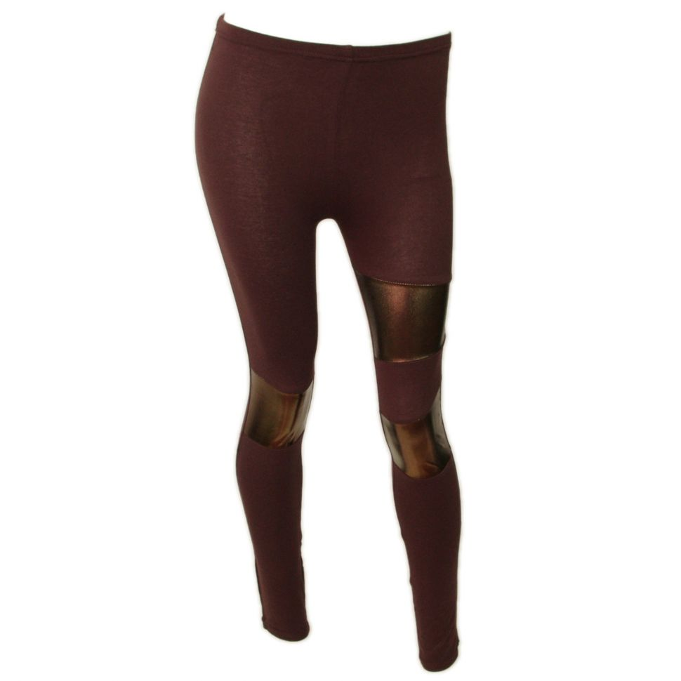 Legging cotton, 9329 Chocolat-Doré