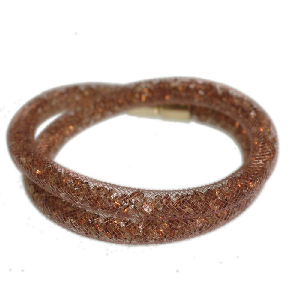 Bracelet Wrap Cristal Shaphia doré 9389 Marron - 9397-26448