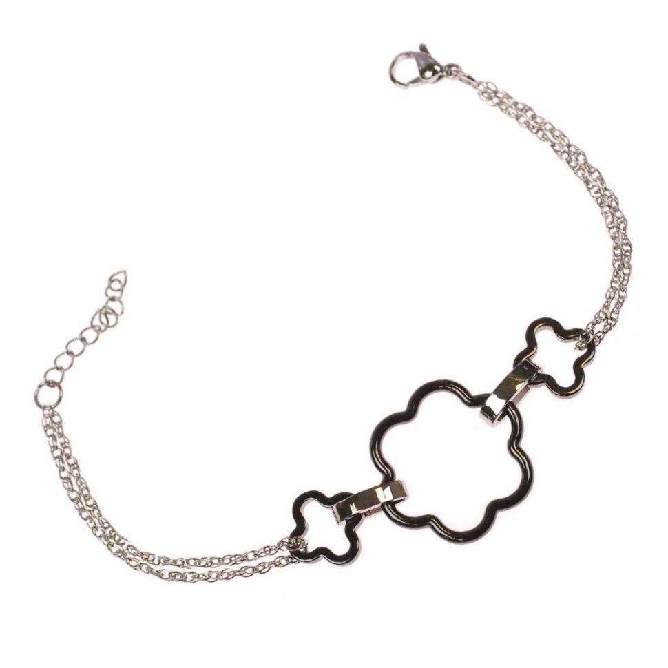 Bracelet céramique 3 trèfles 25mm 9411