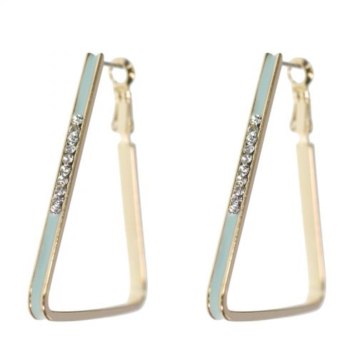 Earrings triangle and rhinestones 9459