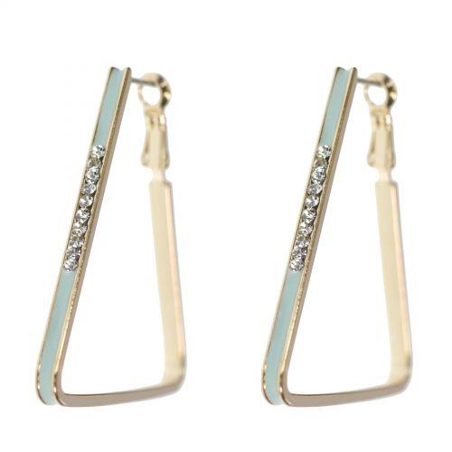 Orecchini triangolo d'oro strass orecchini zirconia 9459