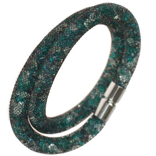 Bracelet Wrap Cristal Shaphia Argenté, 9389 Noir-vert - 9408-27193