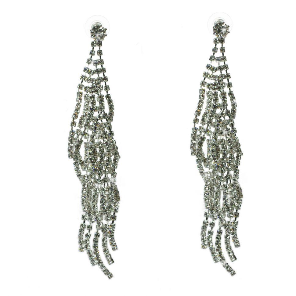 Boucles d'oreilles cristal 9500 Blanc - 9500-27461