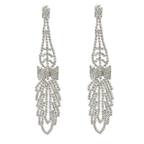 Boucles d'oreilles Noeud papillon strass cristal 9499