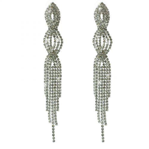 Boucles d'oreilles longues cristal 9501