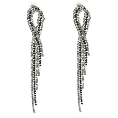 Boucles d'oreilles longues cristal 9502