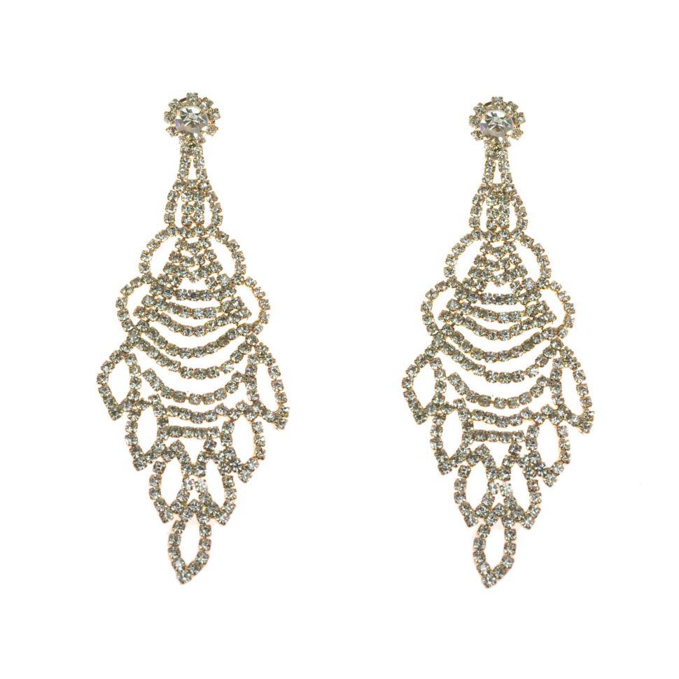 Boucles d'oreilles cristal 9504 Doré - 9504-27482