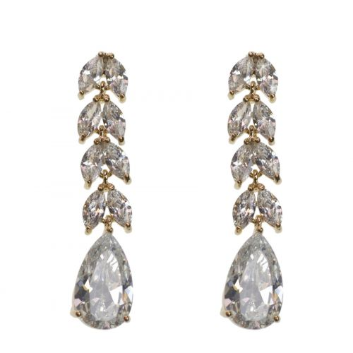 zirconium crystal pendant earrings, DONOSA