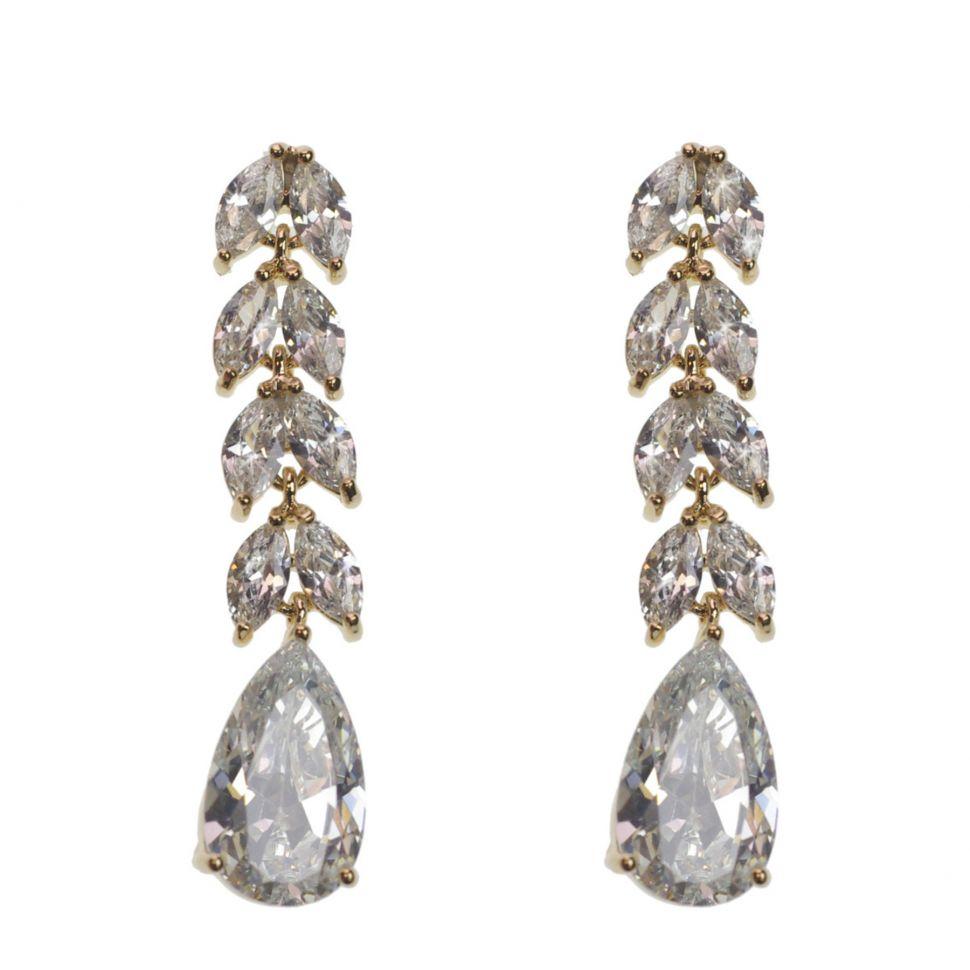 Boucles d'oreilles pendantes cristal de zirconium DONOSA