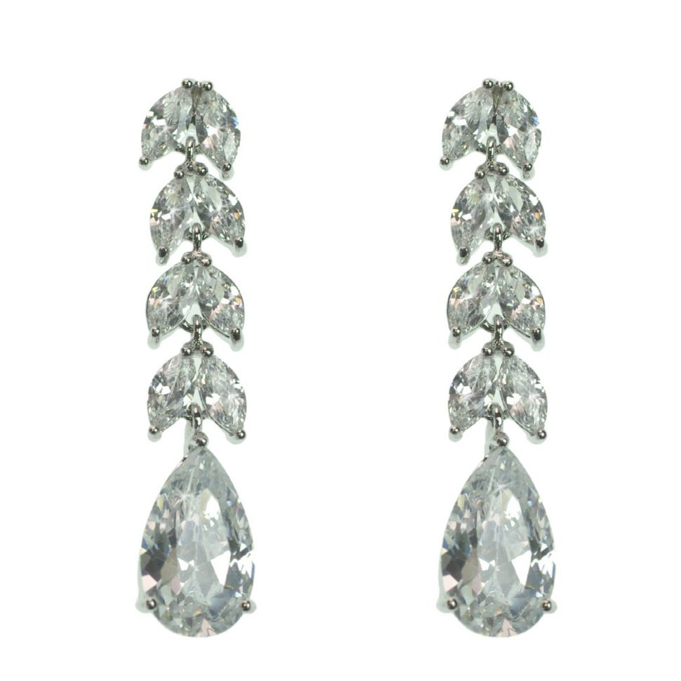 zirconium crystal pendant earrings, DONOSA