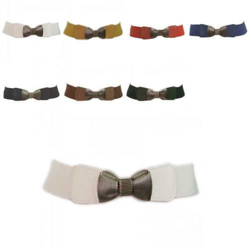 Wide Elastic Belt Bow Tie