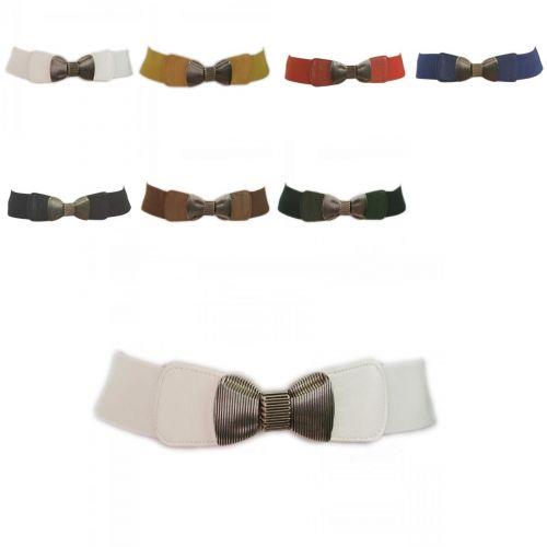 Wide Elastic Belt Bow Tie