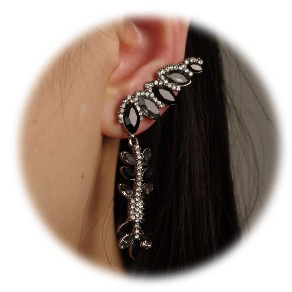 left ear rhinestone bijou 9578