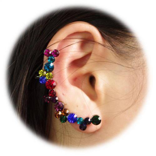 right ear rhinestone bijou 9577