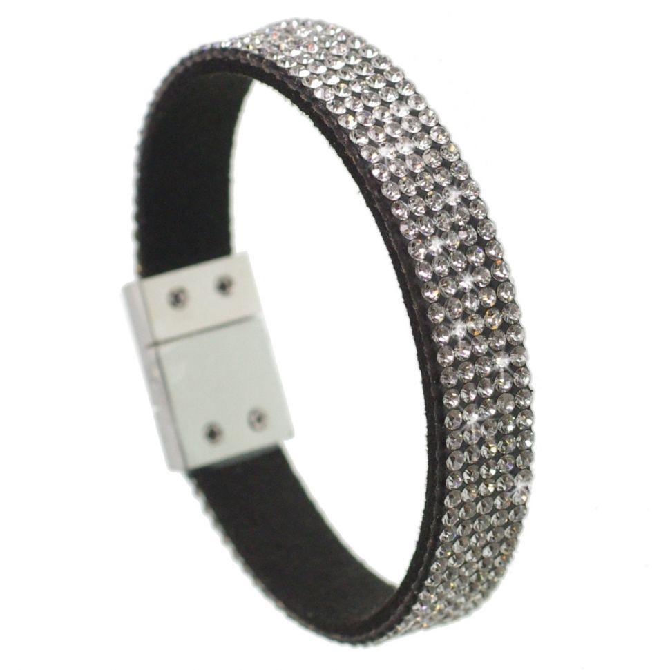 Five rows rhinestones bracelet Cara