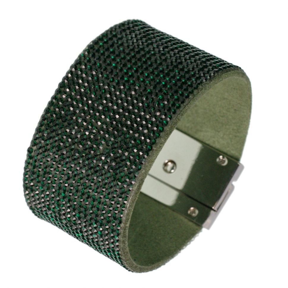Bracelet manchette strass CARA