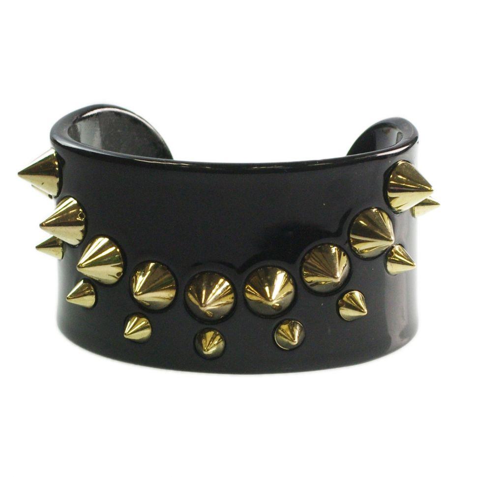 bracelet BOS-2, acrylique clouté de piques Noir - 1782-28119