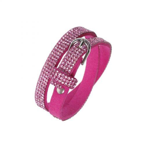 Bracelet strass Wrap Cosima 7928 Fuchsia - 9605-28241