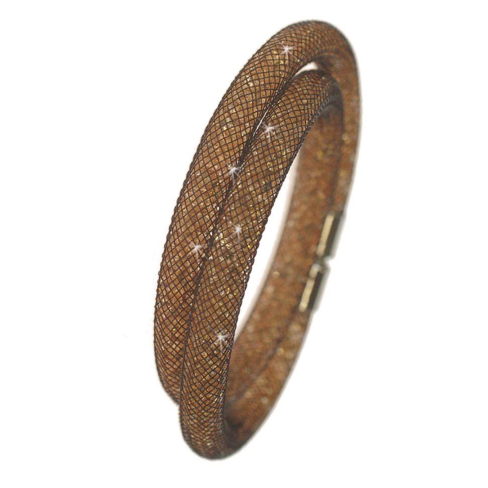 Bracelet Wrap Cristal Shaphia Argenté, 9389 Noir (Doré) - 9408-28262