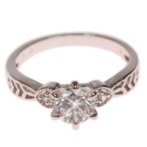 Diamond Ring rodio Lyncia 9620